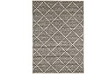 60X96 Rug-Charcoal Distressed Diamonds - Signature