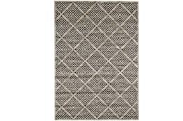 60X96 Rug-Charcoal Distressed Diamonds