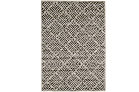 60X96 Rug-Charcoal Distressed Diamonds - Main