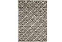96X132 Rug-Charcoal Distressed Diamonds