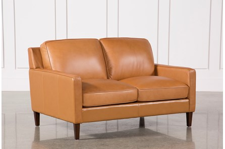 Candace Leather Loveseat - Main