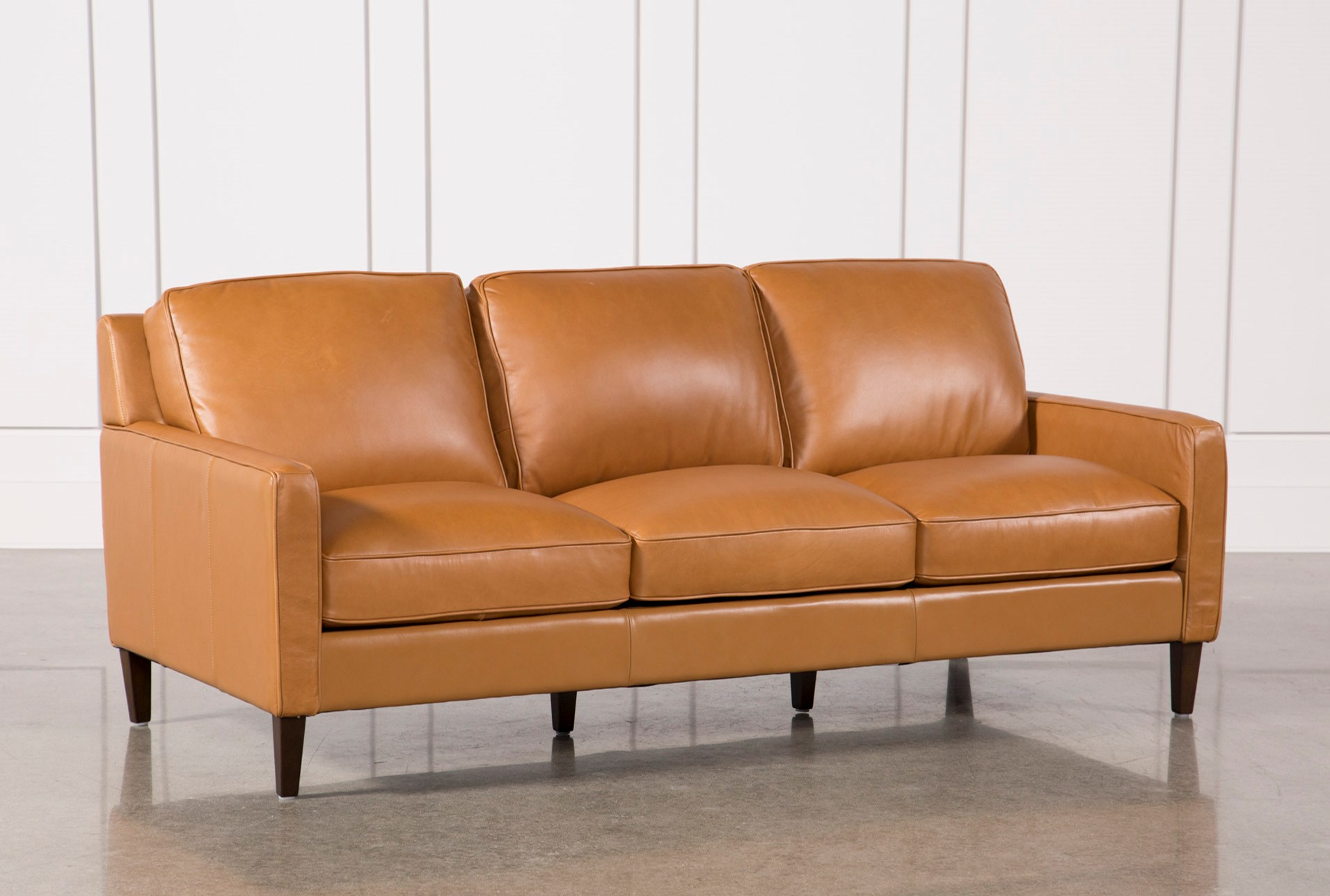 New Walter Leather Sofa | Living Spaces LG65