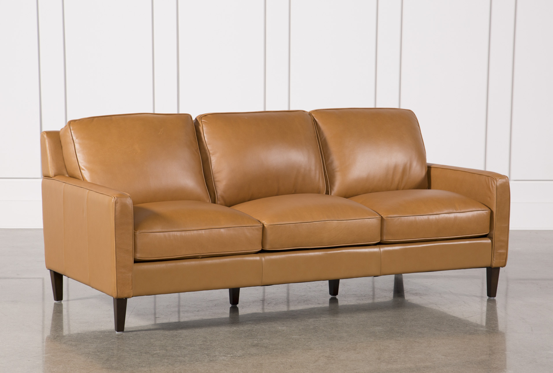 Candace Leather Sofa   360
