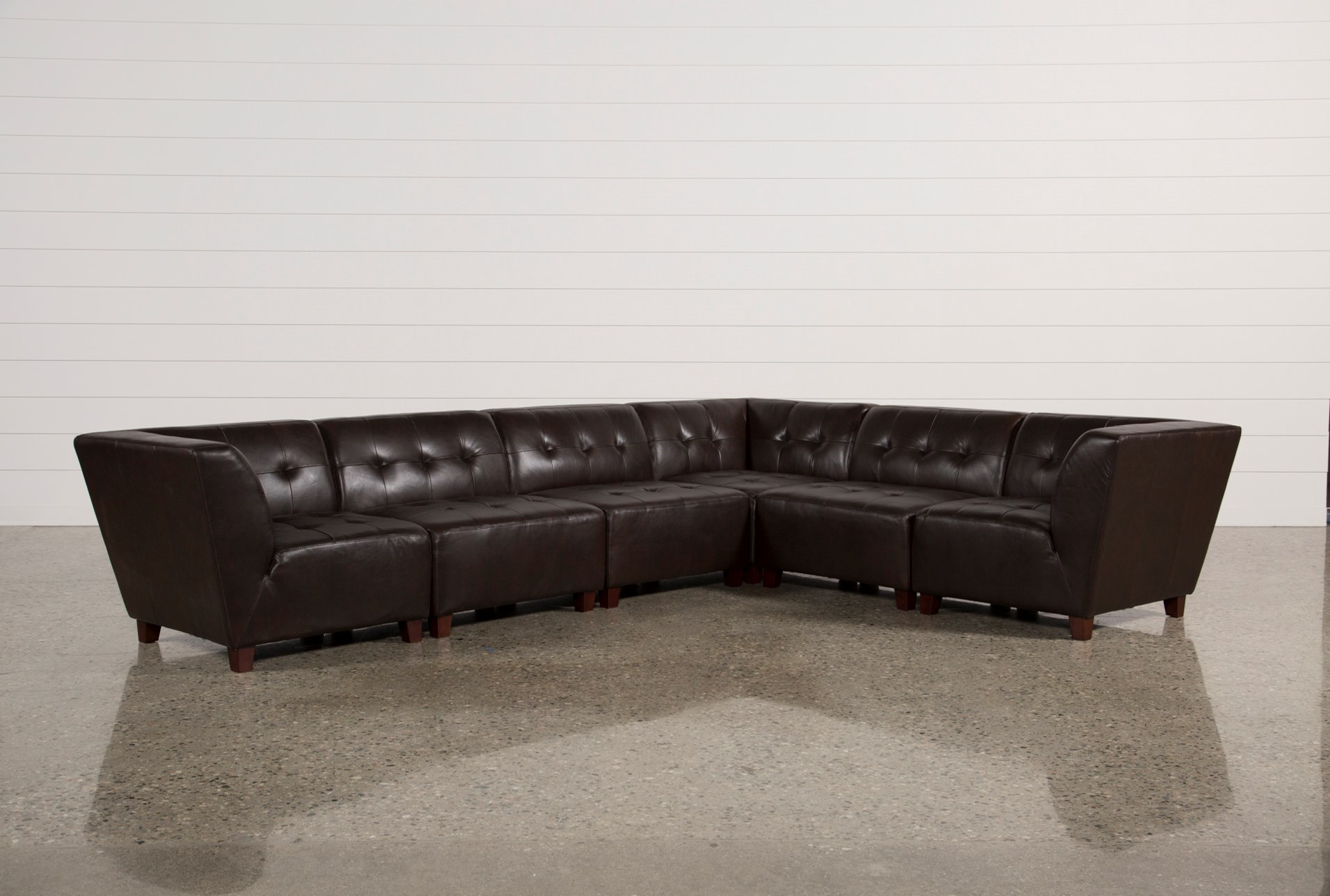 Leather Sectional Sofas Living Spaces