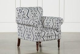 Textured Aztec Print Accent Chair