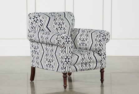 Textured Aztec Print Accent Chair