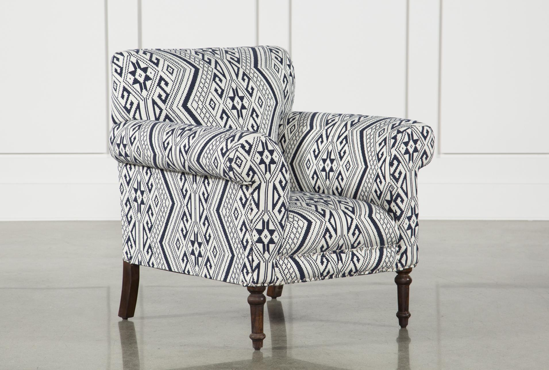 Textured Aztec Print Accent Chair   360 Elements