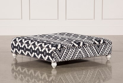 Fine Black White Print Square Ottoman Alphanode Cool Chair Designs And Ideas Alphanodeonline