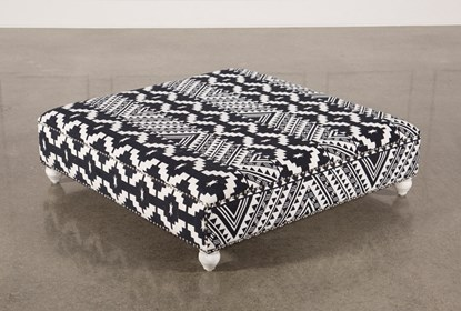 Pleasing Black White Print Square Ottoman Alphanode Cool Chair Designs And Ideas Alphanodeonline