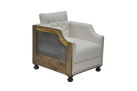 Linen Chair W/Wood Galvanized Sheet - Main