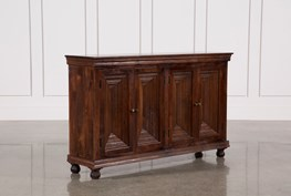 Walnut Finish 4-Door Sideboard
