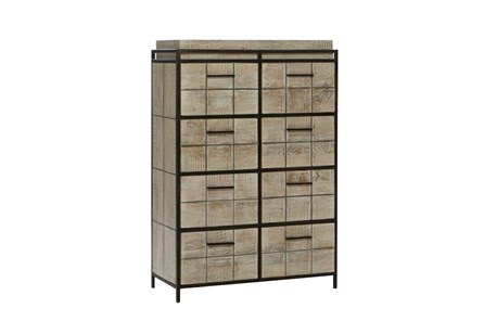 White Wash Finish 8-Drawer Chest - Main