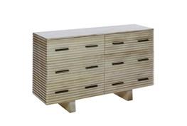 Corrugated White Wash 6-Drawer Dresser