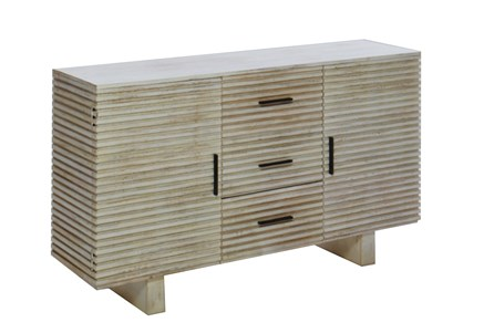 Corrugated White Wash Sideboard