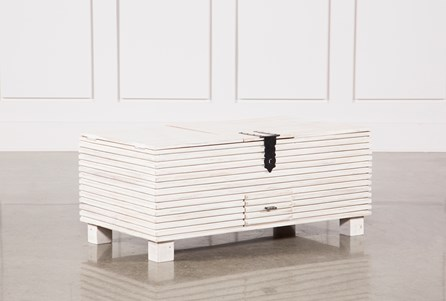 Corrugated White Wash Barbox Coffee Table