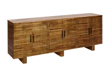 Corrugated Natural 6-Door Sideboard - Main