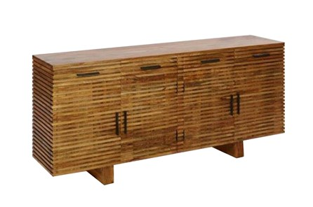 Corrugated Natural 4-Drawer Sideboard - Main