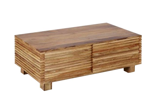 Corrugated Natural Sliding Door Coffee Table - 360
