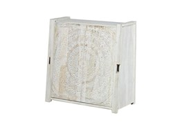 Carved Lace Sliding Door Cabinet