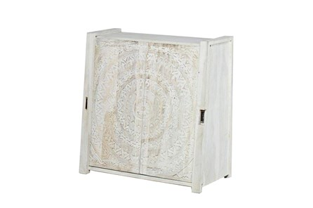 Carved Lace Sliding Door Cabinet - Main
