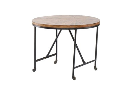 Wheeled Round Table