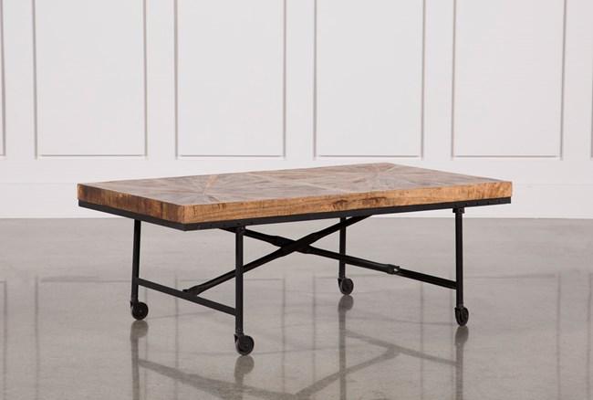 Pinwheel Wheeled Coffee Table - 360