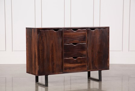 Walnut Finish 2-Door/3-Drawer Sideboard