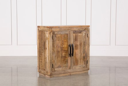 Natural Mango Wood Finish Cabinet