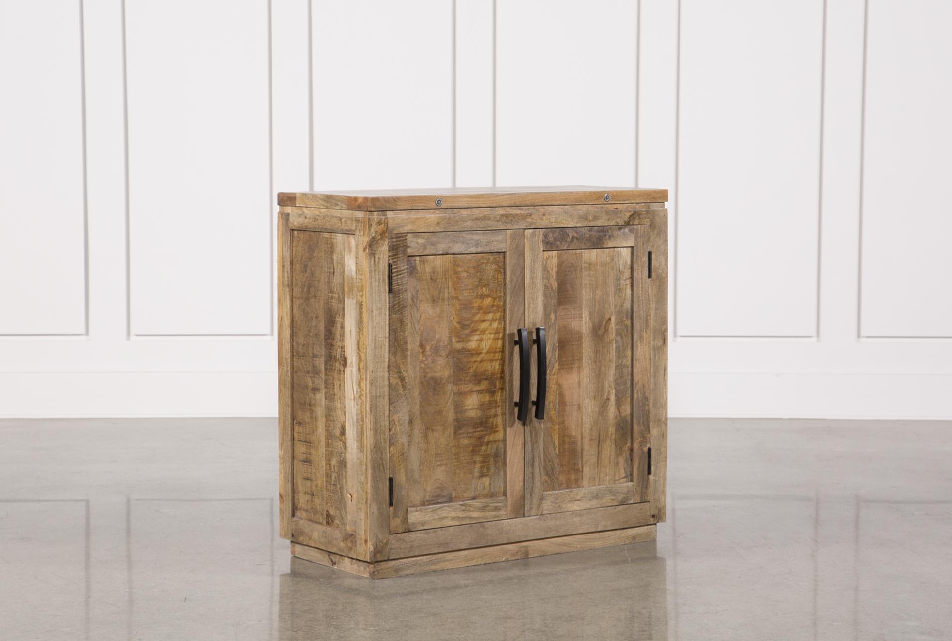 Natural Mango Wood Finish Cabinet   360 Elements