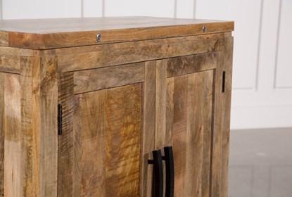 Natural Mango Wood Finish Cabinet