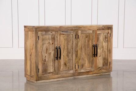 Natural Mango Wood Finish Sideboard