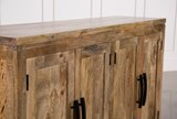 Natural Mango Wood Finish Sideboard - Top