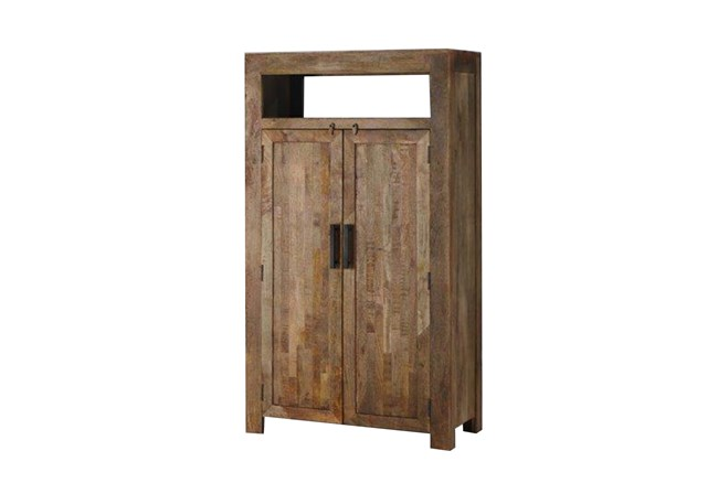 Vintage Finish Rustic Tall Cabinet - 360