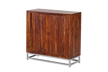 Mango Wood Finish Sliding Door Cabinet - Main