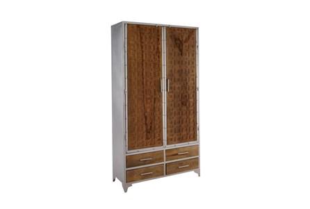 Mango Wood Finish Tall Cabinet