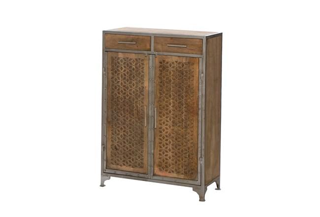 Mango Wood Finish Cabinet - 360