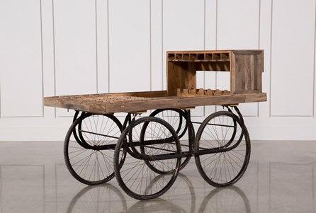 Sawan Finish Bar Cart On Wheels