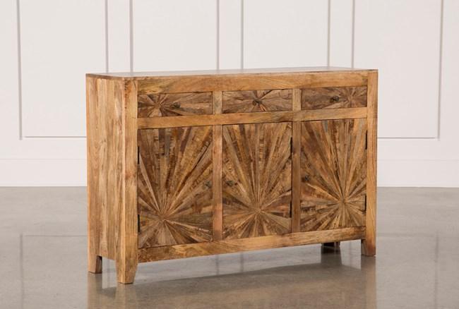 Mango Wood Pinwheel Sideboard - 360