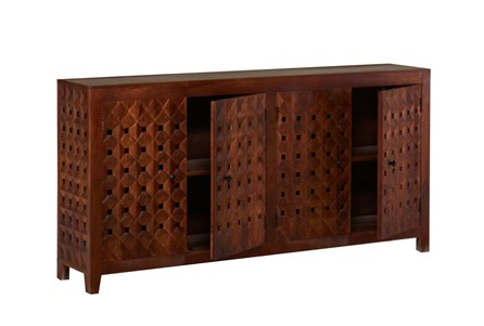Walnut Finish Quilted Style Sideboard