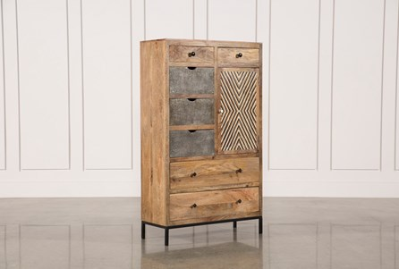 Mango Wood Multi Door Wardrobe Cabinet