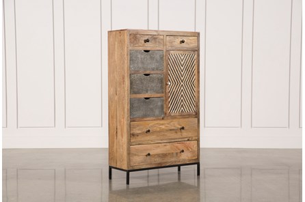 Mango Wood Multi Door Wardrobe Cabinet - Main