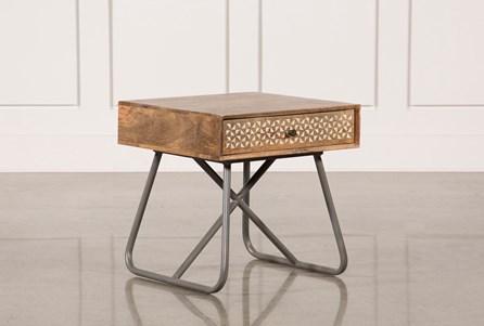 Natural Finish Lamp Table