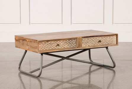 Natural Finish Coffee Table