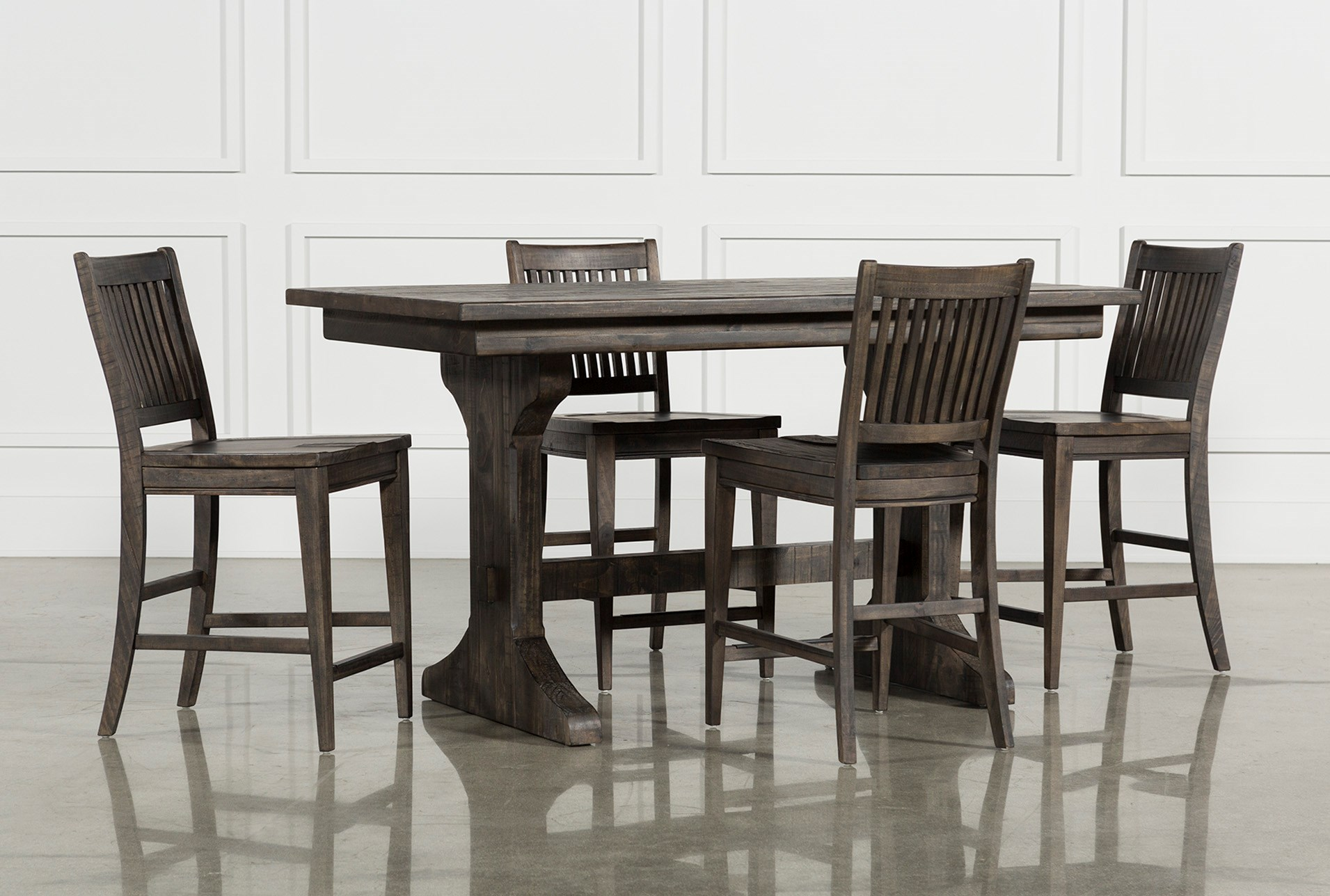 Valencia 5 Piece Counter Set With Counter Stool Living Spaces