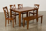 Wendy Carmel 6 Piece Rectangle Dining Set W/Bench - Top