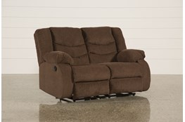 "Tulen Chocolate 63"" Reclining Loveseat"