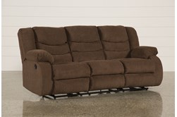 "Tulen Chocolate 87"" Reclining Sofa"