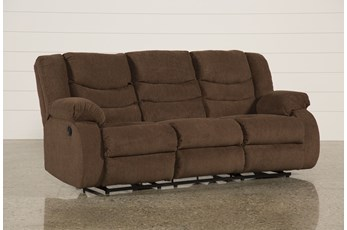 "Tulen Chocolate 87"" Reclining Sofa"