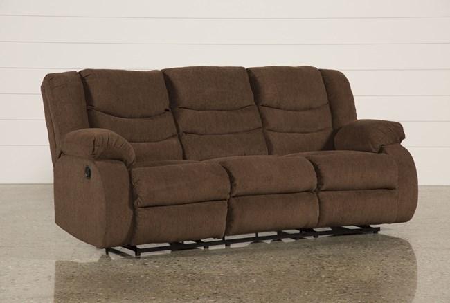 "Tulen Chocolate 87"" Reclining Sofa - 360"