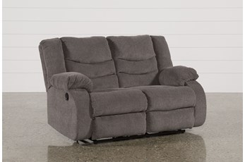 "Tulen Gray 63"" Reclining Loveseat"